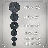 Штанга 2 м | 116 кг, фото 3