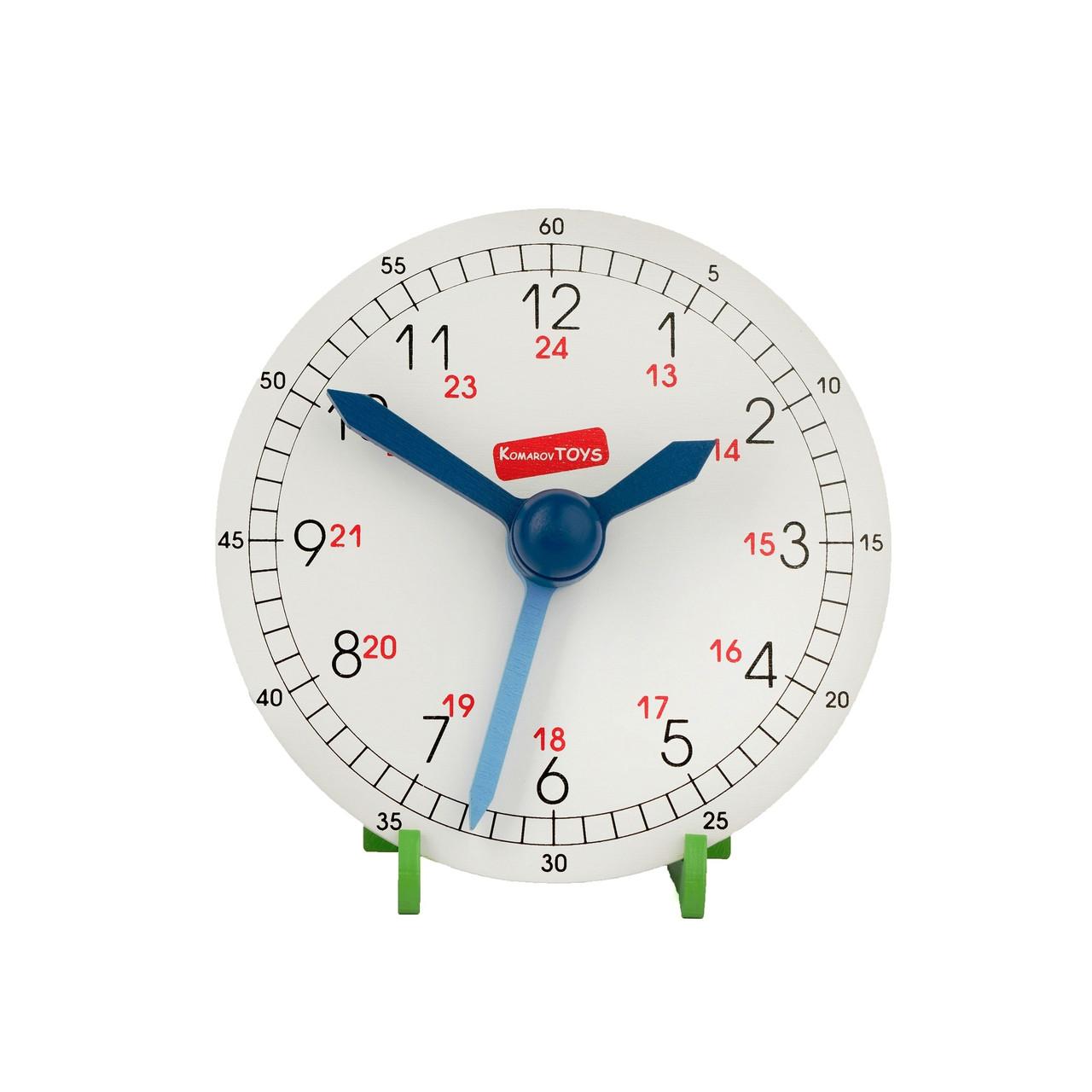 Годинник навчальний дерев'яний (макет), Komarovtoys
