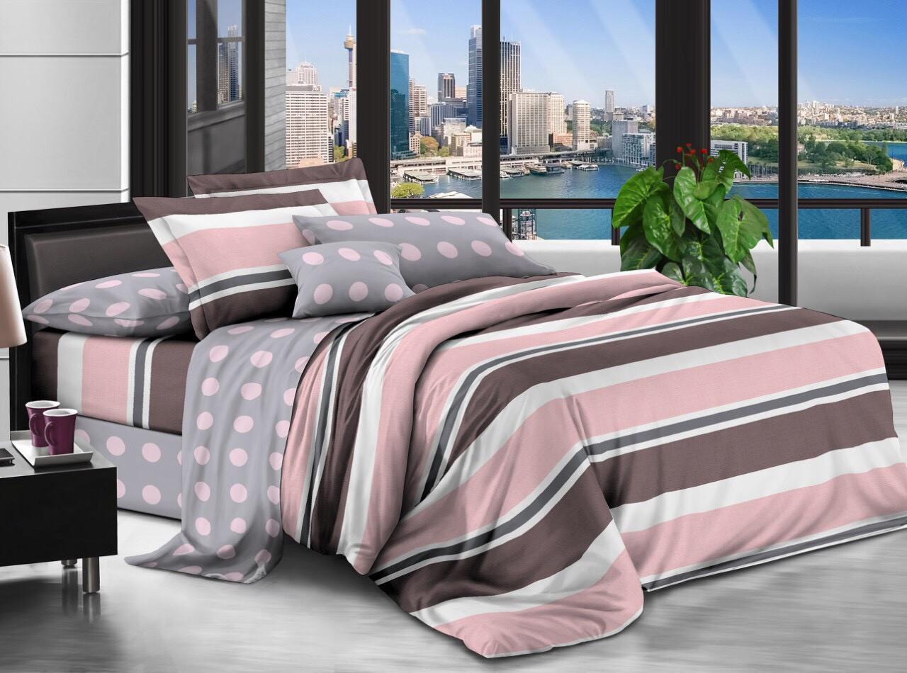 Двуспальный комплект постельного белья евро 200*220 хлопок  (12665) TM KRISPOL Украина