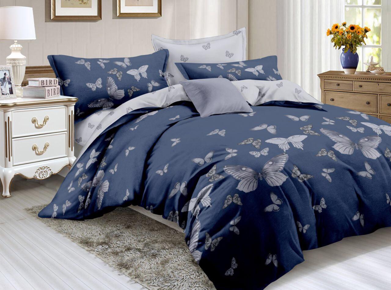 Двуспальный комплект постельного белья евро 200*220 хлопок  (12667) TM KRISPOL Украина