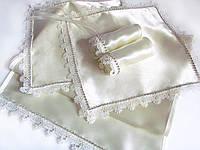 Набор (комплект) для венчания айвори (свадебный набор) со стразами люкс, фото 1