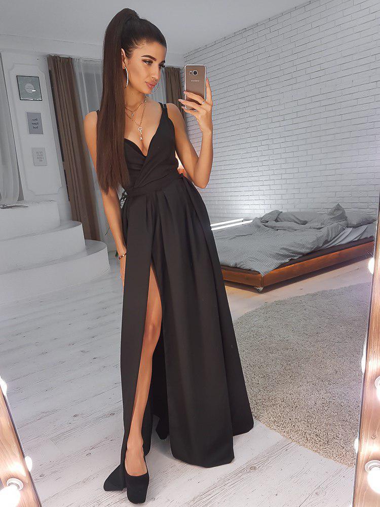 Платье коктейльное  (цвет - черный, ткань - креп костюмка) Размер S, M, L (розница и опт)