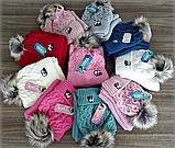 М 5068 Комплект для дівчинки шапка і хомут, кашемір, утеплювач фліс, фото 4
