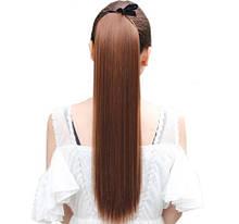 Искусственный каштановый хвост - длина хвоста 55см, синтетический волос