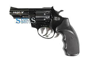 """Револьвер под патрон Флобера Profi 3"""" чёрный пластик"""