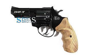 """Револьвер під патрон Флобера Profi 3"""" чорний дерево"""