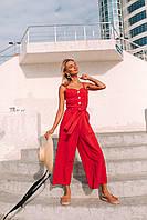 Яркий стильный комбинезон (цвет - красный, ткань - креп костюмка) Размеры S,М,L (розница и опт)