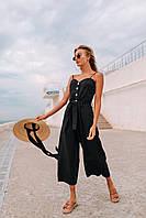 Модный комбинезон (цвет - черный, ткань - креп костюмка) Размеры S,М,L (розница и опт)