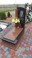 Комплекс памятник чоловічий із граніту закритий квітник