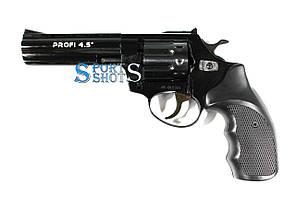 """Револьвер под патрон Флобера Profi 4.5"""" чёрный пластик"""
