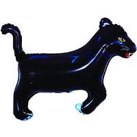 Фольгированный шар Пантера 29см х 42см Черный