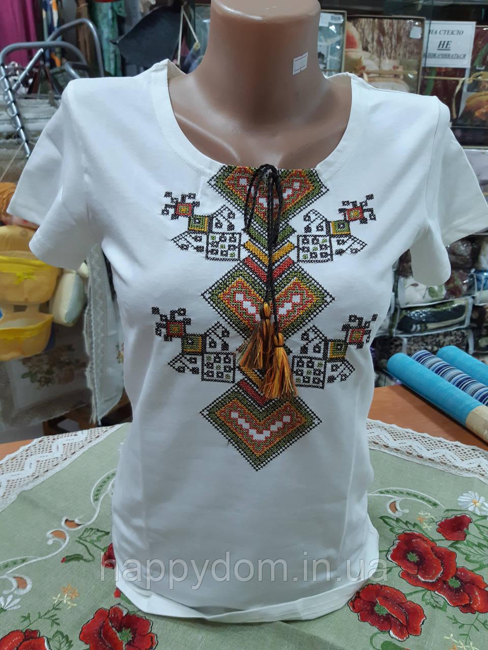 Вышиванка жеская футболка белая