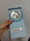 Срібна ікона з позолотою Марія з немовлям для хлопчика