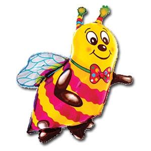 Фольгированный шар  Пчелка 48см х 40см Желтый