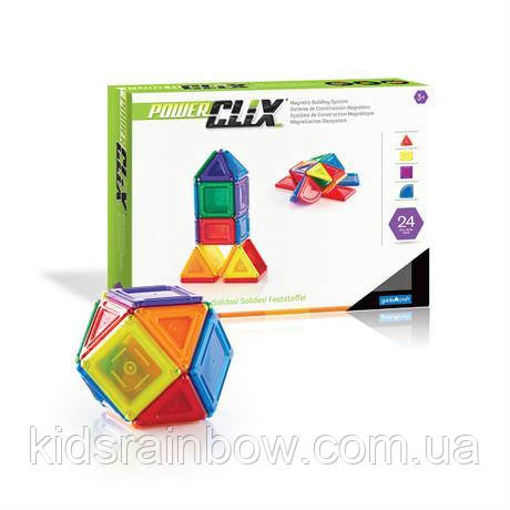 Конструктор PowerClix Solids, 24 детали