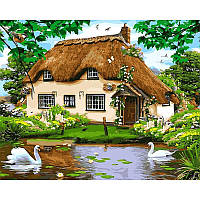 "Картина по номерам ""Сельский домик"" на холсте 40Х50см Babylon VP476"