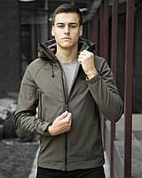 Мужская осенняя куртка Pobedov Soft Shell Jacket Khaki