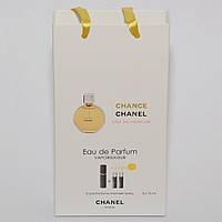 Мини парфюмерия женская  Chanel Chance в подарочной упаковке 3х15 ml  DIZ