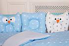 """Комплект постельного белья для новорождённых Добрый Сон """"Совушки"""" бело-голубой, 9-01, фото 3"""