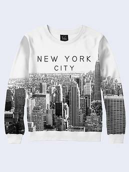 Свитшот мужской Нью Йорк черно - белый
