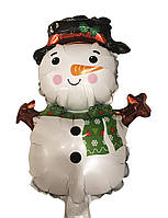 Фольгированный мини шар Снеговик  27х48 см