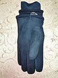 Флис хлопок с мех  на манжете Лучше Теплый Перчатки мужские только оптом, фото 4