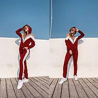 Молодежный женский спортивный костюм, бордо