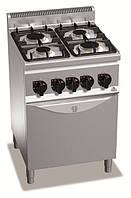 Плита газовая 4-конфорочная с духовкой G6F4+FG1 Bertos (Италия)