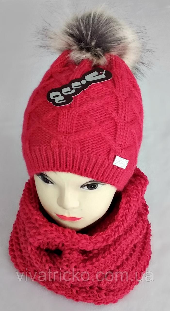М 6137 Комплект шапка+баф, марс, флис
