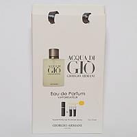 Мини парфюмерия мужская Giorgio Armani Acqua di Gio в подарочной упаковке 3х15 ml  DIZ