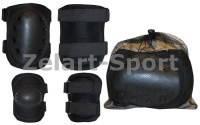 Защита тактическая наколенники, налокотники (р-р XL, ABS, полиэстер 600D черная)