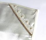 Набор (комплект) для венчания айвори (свадебный набор) со стразами золото люкс, фото 4
