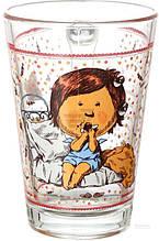 Стеклянная чашка 260 мл для чая, горячих напитков UniGlass Gapchinska Шоколад