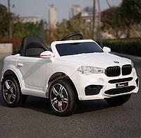 Детский электромобиль Джип M 3180 EBLR-1, BMW X5, Кожаное сиденье, EVA резина, белый