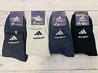 Носки мужские зимние махровые хлопок Adidas размер 40-44, фото 1