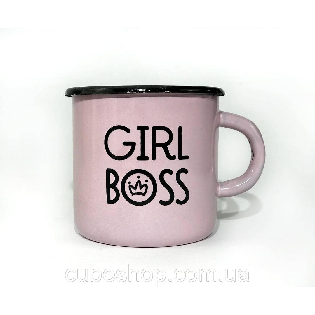Чашка эмалированная «Girl boss» (270 мл)