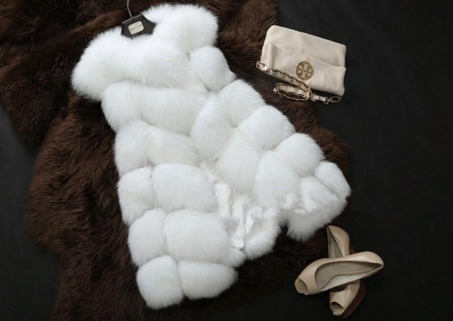 Женская меховая жилетка белая из искусственного меха Купить недорого в интернет-магазине Украина!
