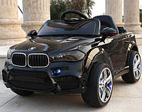 Детский электромобиль Джип M 3180 EBLR-2, BMW X5, Кожаное сиденье, EVA резина, черный