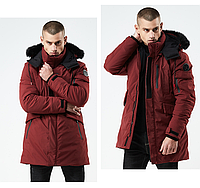 Куртка мужская  осень зима бренд Metropolis (Канада) размер 48 бордовая 03001/042, фото 1