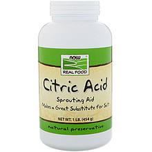 """Лимонная кислота NOW Foods, Real Food """"Citric Acid"""" чистый порошок (454 г)"""