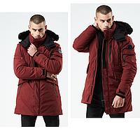 Куртка мужская осень зима бренд Metropolis (Канада) размер 52 бордовая 03001/044