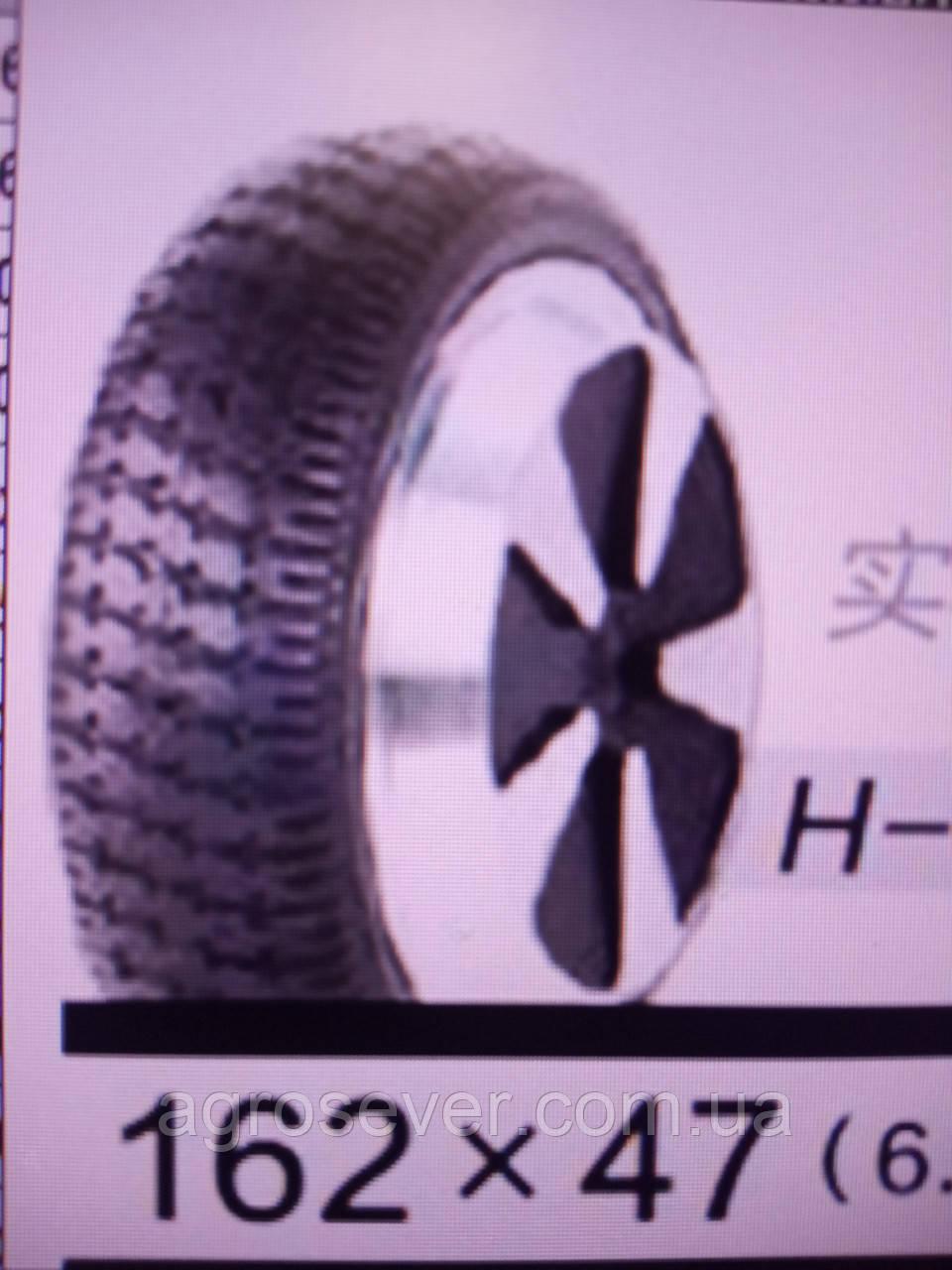 Колесо162х47 (6,5X2) H-001 цельнорезина