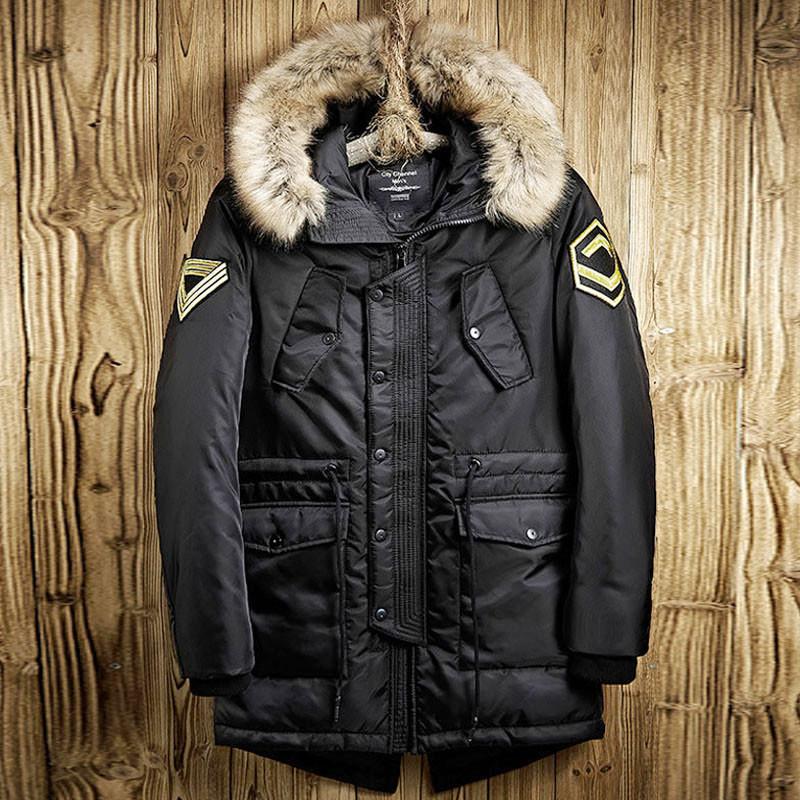 Куртка парка мужская осень бренд City Сhannel (Канада) размер 44 черная 03002/012