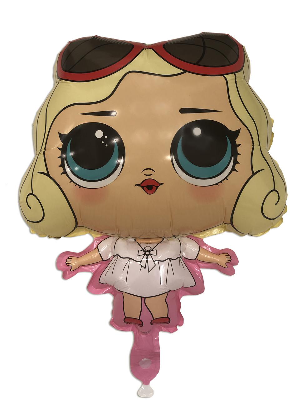 Воздушный фольгированный шар Кукла Лол Мерилин Монро 59х91 см