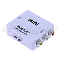 Конвертер HDMI to AV (RCA) + Audio, питание mini USB, фото 3