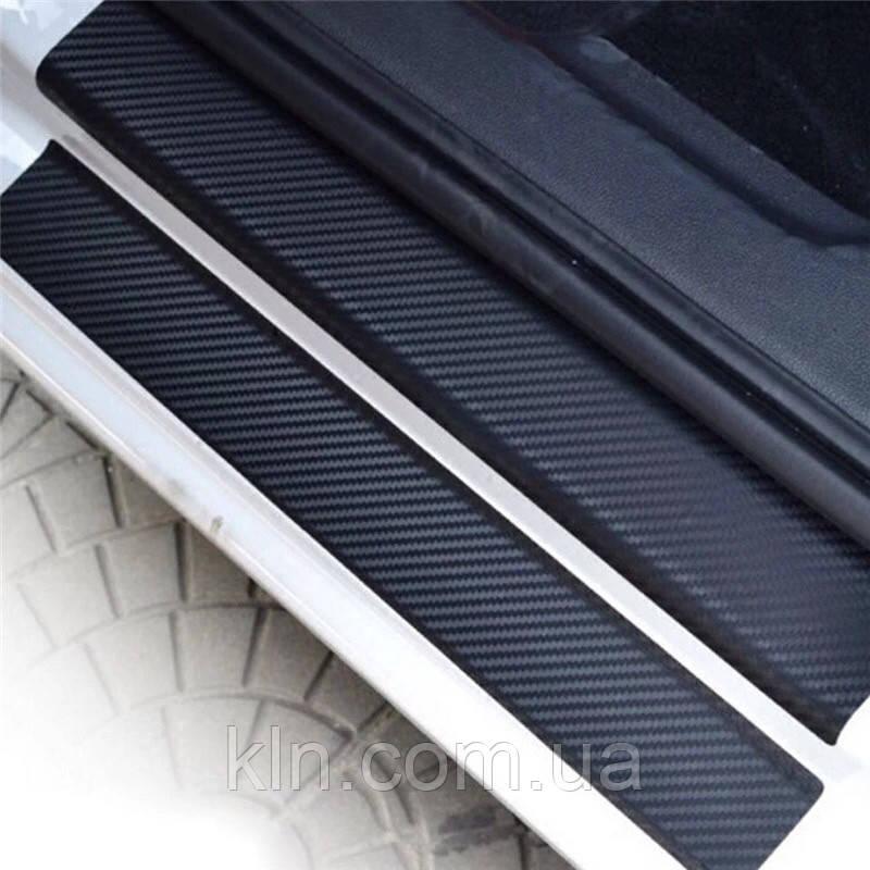 Карбоновые наклейки на пороги автомобиля CHEVROLET AVEO 2002-2011