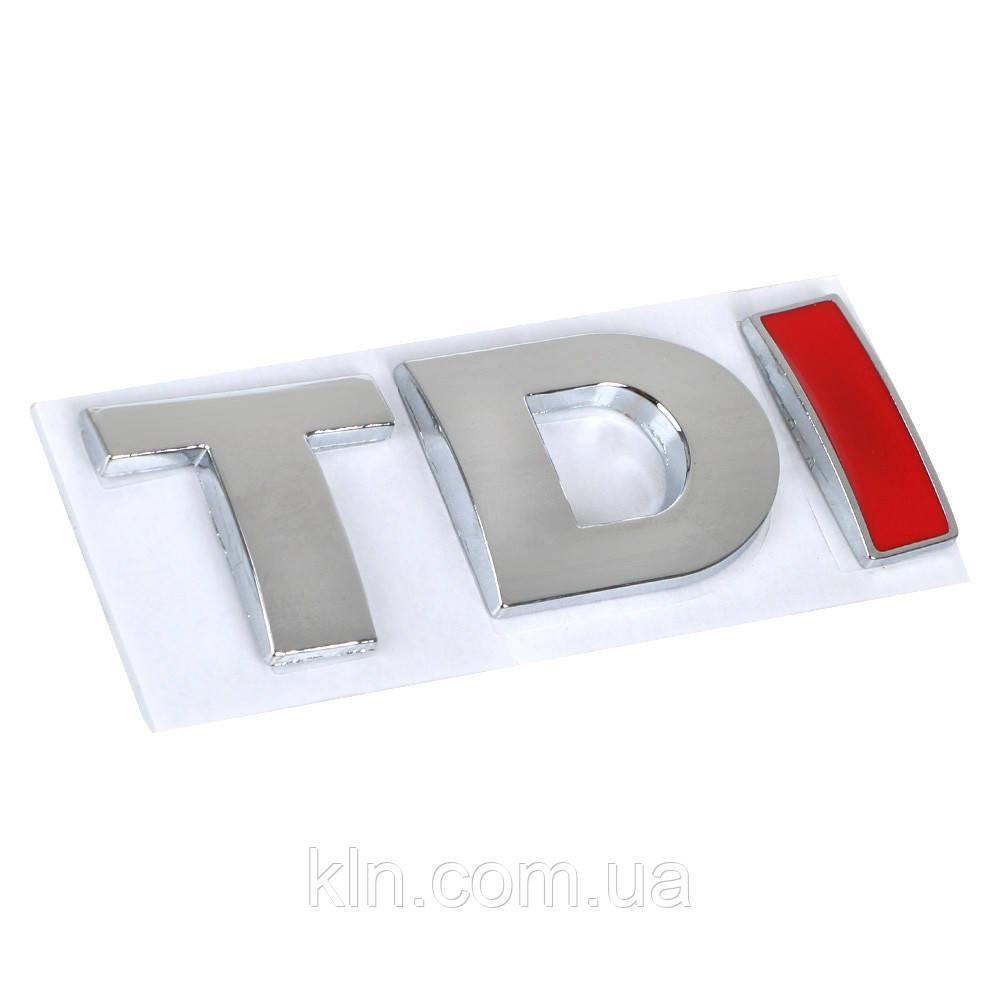 "Эмблема багажника ""TDI"" с красной буквой I Volkswagen Golf Jetta Passat MK4 MK5 MK6 Skoda (7P6 853 675 A 739)"