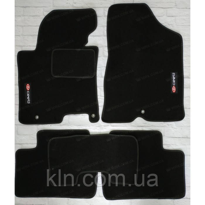 Коврики для салона автомобиля текстильный  Kia Ceed второе поколение 2012-2018