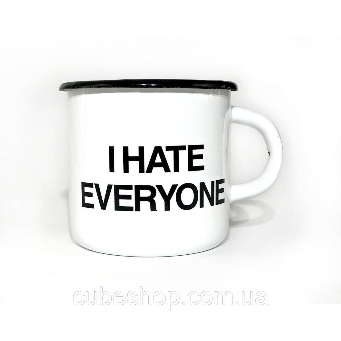 Чашка эмалированная «I hate everyone» (270 мл)