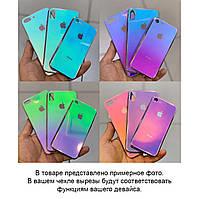 TPU+Glass чехол Gradient Rainbow с лого для Samsung Galaxy A70 (A705F)